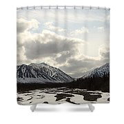 View Of Quill Creek In Kluane National Shower Curtain