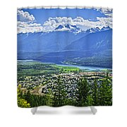 View Of Revelstoke In British Columbia Shower Curtain