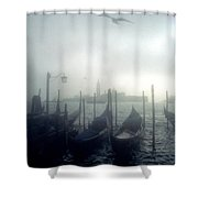 View Of San Giorgio Maggiore From The Piazzetta San Marco In Venice Shower Curtain