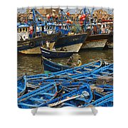 View Of Skala Du Port Shower Curtain