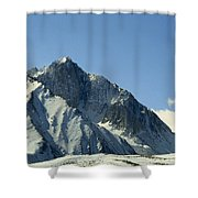 View Of Snow-covered Mountain Ridges Shower Curtain