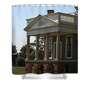 View Of South Portico At Poplar Forest Shower Curtain