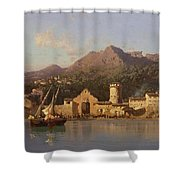 View Of Taormina Sicily Shower Curtain