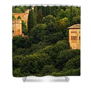 View Of The Alhambra In Spain Shower Curtain