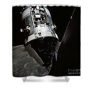 View Of The Apollo 17 Command Shower Curtain