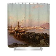 View Of The Bay Of Naples Shower Curtain
