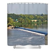 View Of The Fairmount Dam  Shower Curtain