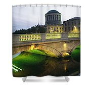 View Of The Four Courts And The Liffey Shower Curtain