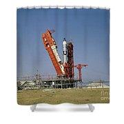 View Of The Gemini-titan 4 Spacecraft Shower Curtain