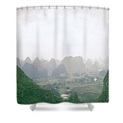 View Of The Guilin Mountains In Guangxi In China Shower Curtain