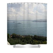 View Of The Marmara Sea - Istanbul Shower Curtain