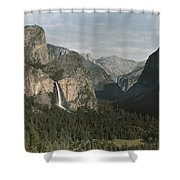 View Of The Mountain El Capitan Shower Curtain