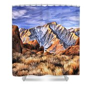 View Of The Sierras Shower Curtain