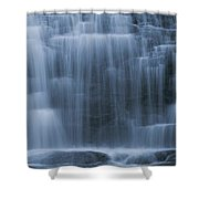 View Of Water Cascading Shower Curtain