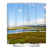 View Over Loch Ba Shower Curtain