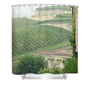 View Over The Vineyards From Saint Emilion France Shower Curtain