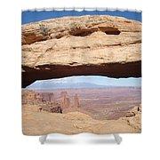 View Through Mesa Arch Shower Curtain
