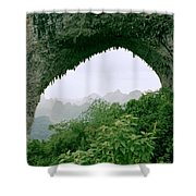 View Through Moon Hill In Guangxi In China Shower Curtain