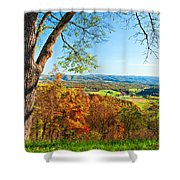 View With Caution Shower Curtain
