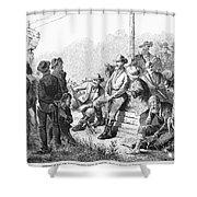 Vigilante Court, 1874 Shower Curtain by Granger