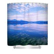 Vignette Lake Pend Orille  Shower Curtain