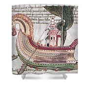 Viking Ship - 10th Century Shower Curtain