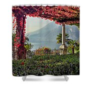 Villa Cipressi Pergola On Lake Como I Shower Curtain