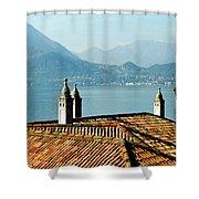 Villa Monastero Rooftop And Lake Como Shower Curtain