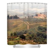 Villa On A Hill In Tuscany Shower Curtain