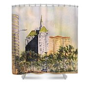 Villa Riviera  Shower Curtain