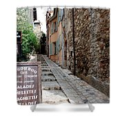 Village Alley Shower Curtain