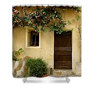 Village House In Bormes Shower Curtain