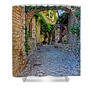 Village Lane Provence France Shower Curtain