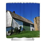 Vintage American Barn And Silo 1 Of 2 Shower Curtain