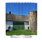 Vintage American Barn And Silo 2 Of 2 Shower Curtain