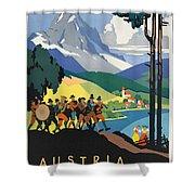 Vintage Austrian Travel Poster Shower Curtain