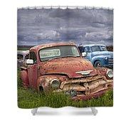 Vintage Auto Junk Yard Shower Curtain