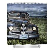 Vintage Auto On The Prairie Shower Curtain