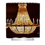 Vintage Ballroom Chandalier Fractal Shower Curtain