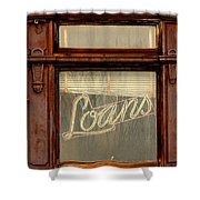 Vintage Bank Sign Shower Curtain