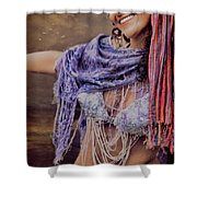 Vintage Belly Dancer Shower Curtain