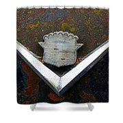 Vintage Caddy Emblem Shower Curtain