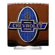 Vintage Chevrolet Emblem Shower Curtain