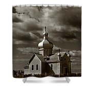 Vintage Church Shower Curtain