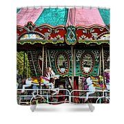Vintage Circus Carousel - Merry-go-round Shower Curtain