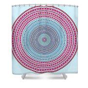 Vintage Color Circle Shower Curtain