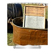 Vintage Copper Wash Tub Shower Curtain by LeeAnn McLaneGoetz McLaneGoetzStudioLLCcom