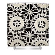 Vintage Crocheted Doily Shower Curtain