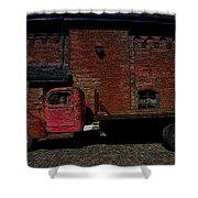 Vintage Distillery Truck Shower Curtain