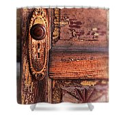 Vintage Door And Knob Shower Curtain